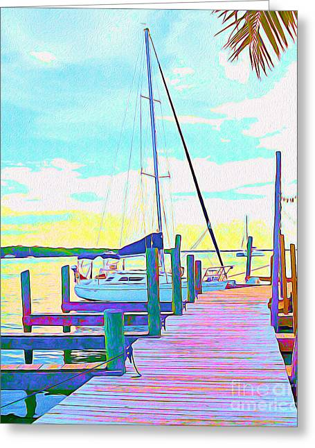 Boat At Sunset I Greeting Card by Chris Andruskiewicz