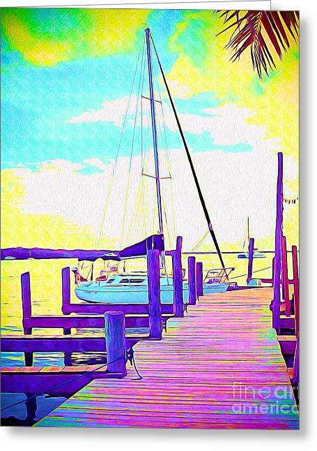 Boat At Sunset II Greeting Card by Chris Andruskiewicz