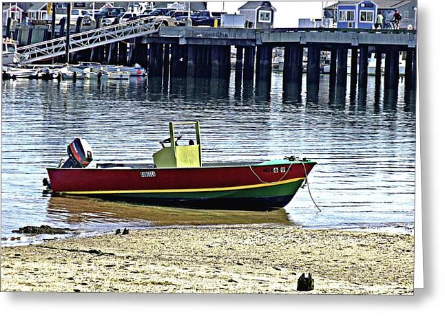 Boat At The Beach Provincetown Greeting Card