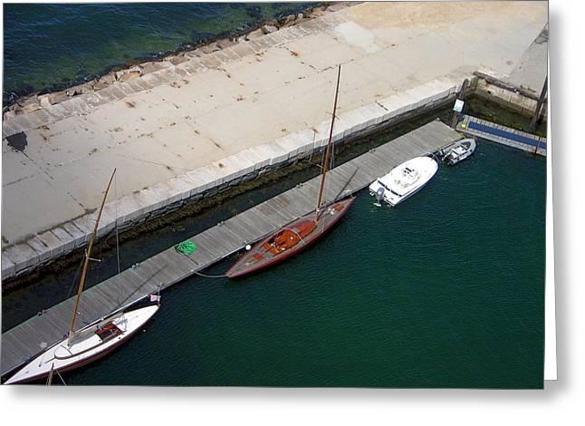 Boat Basin - Newport Greeting Card
