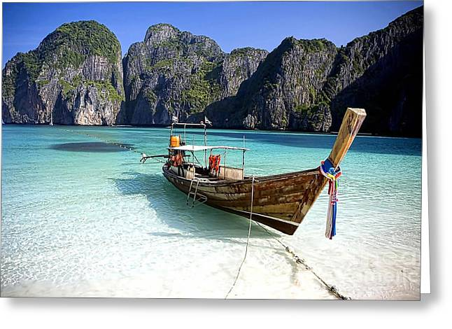 Boat Beach Collection Greeting Card