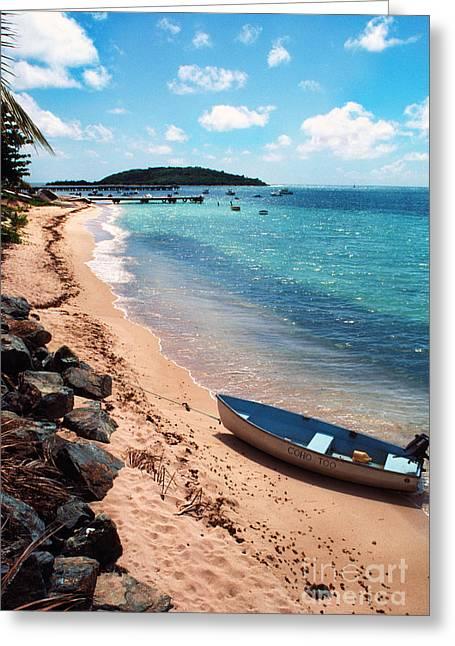 Boat Beach Vieques Greeting Card by Thomas R Fletcher