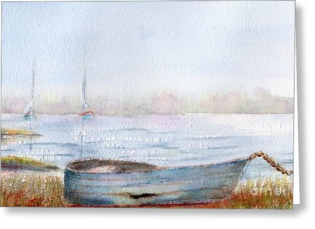 Boat By A Lake. Greeting Card by Kim Hamilton