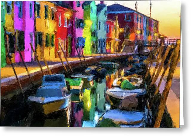 Boat Canal Greeting Card