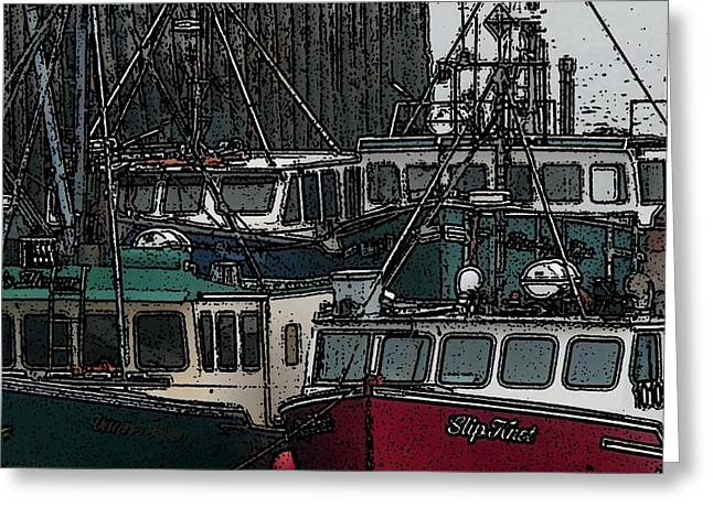 Boat City 2 Greeting Card by Roger Charlebois
