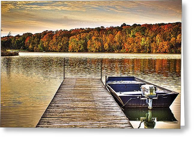 Boat Dock Le-aqua-na II Greeting Card by Roger Passman
