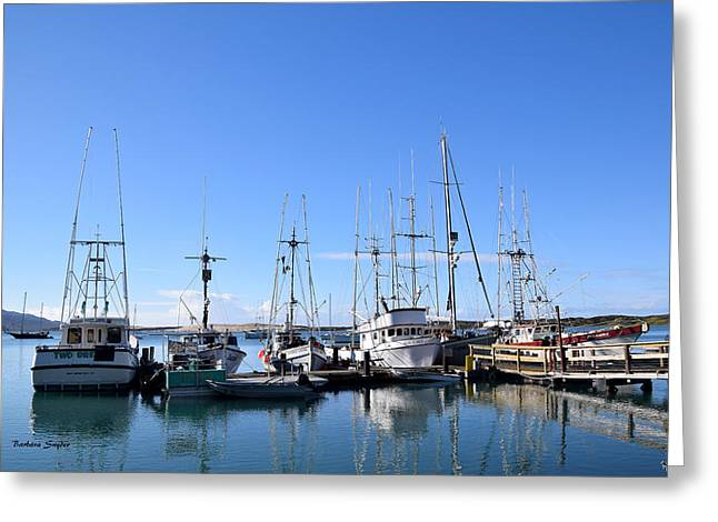 Boat Docks Of Morro Bay California Greeting Card