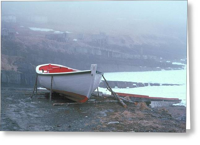 Greeting Card featuring the photograph Boat  Flatrock by Douglas Pike