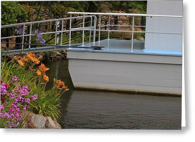 Greeting Card featuring the photograph Boat House by Ivete Basso Photography