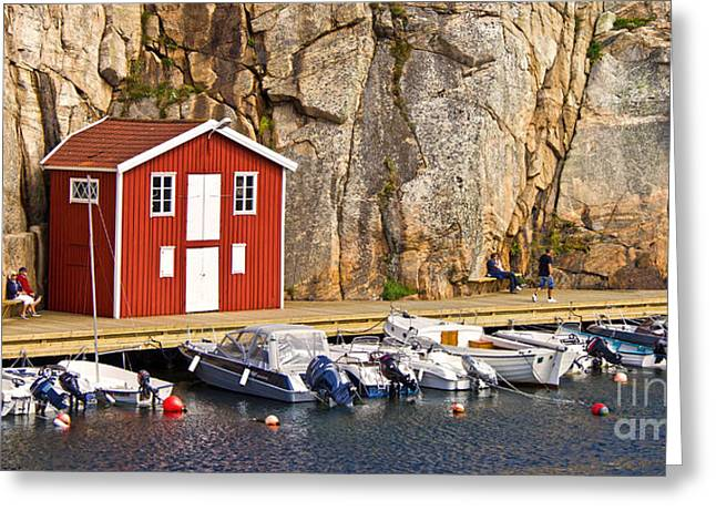 Boat House Greeting Card by Lutz Baar