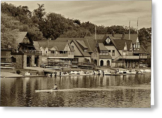Boat House Row 1 Greeting Card