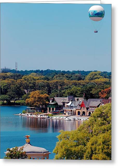 Boat House Row Greeting Card