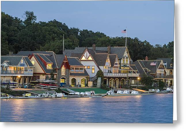 Boat House Row Greeting Card by Richard Nowitz
