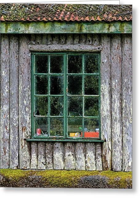 Boat House Window Greeting Card