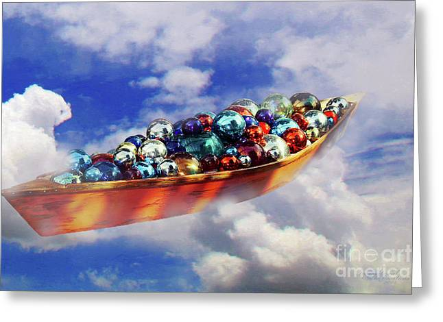 Boat In The Clouds Greeting Card