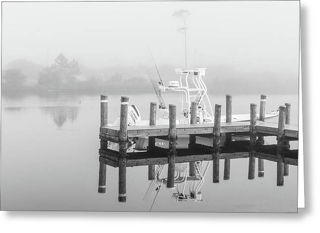 Greeting Card featuring the photograph Boat In The Sounds Alabama  by John McGraw