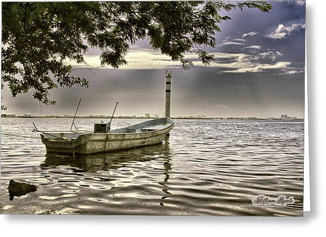 Boat In The Water Greeting Card by William Havle