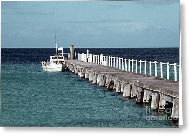 Boat Jetty Greeting Card by Rick Piper Photography