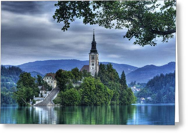 Bled Greeting Cards - Boat Landing Greeting Card by Don Wolf