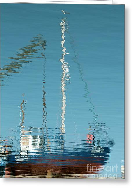 Greeting Card featuring the photograph Boat Of Ripples by Wendy Wilton