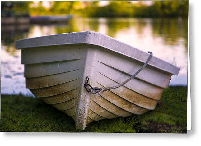 Boat On Land Greeting Card