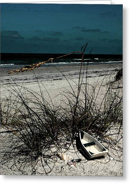 Boat On The Beach Greeting Card by Randy Sylvia