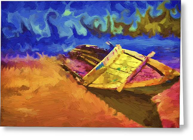 Boat Paint Greeting Card
