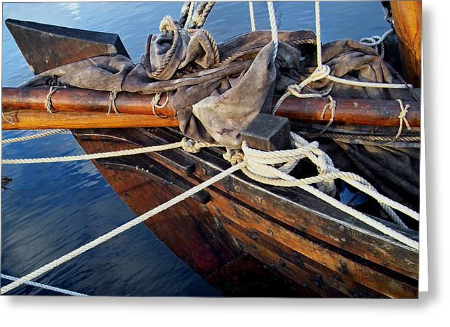 Boat Prow Greeting Card by Robert Lacy