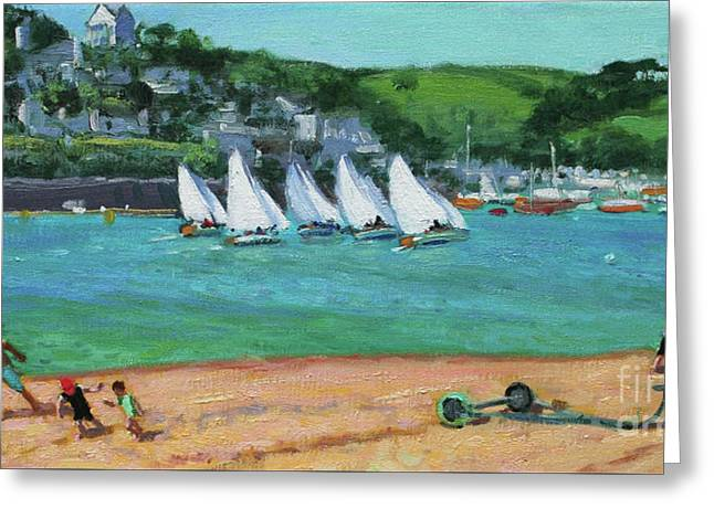 Boat Race Salcombe Greeting Card