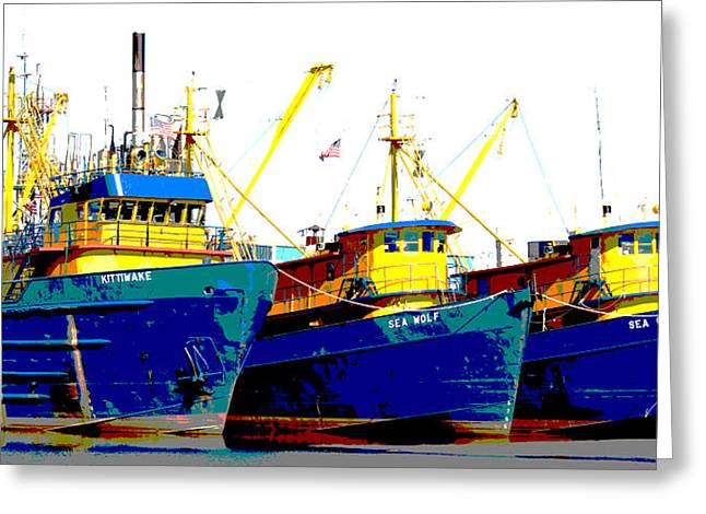 Boat Series 12 Fishing Fleet 2 Empire Greeting Card
