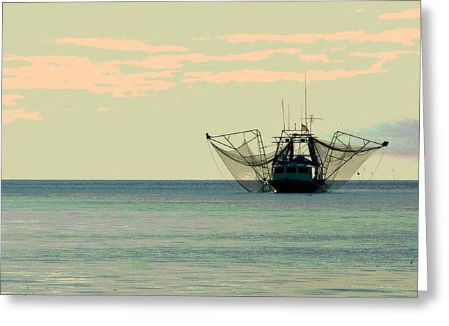 Boat Series 30 Shrimp Boat Gulf Of Mexico Louisiana Greeting Card