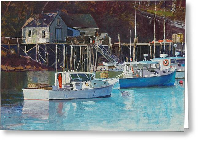 Boat Shack Greeting Card by Robert Bissett