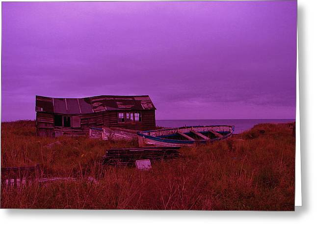 Boat Shed Blues Greeting Card by Stuart Parnell