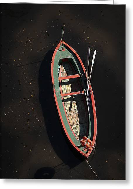Boat Greeting Card by Silvia Bruno