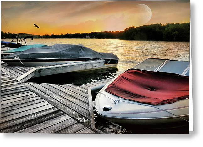 Boat Slip Greeting Card by Diana Angstadt