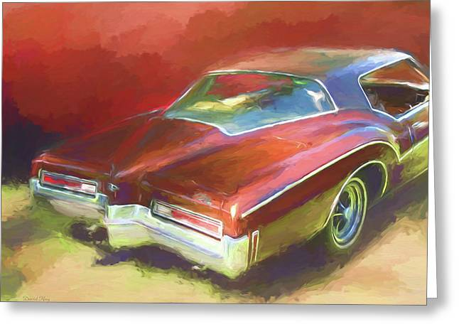 Greeting Card featuring the digital art Boat Tail Buick by David King