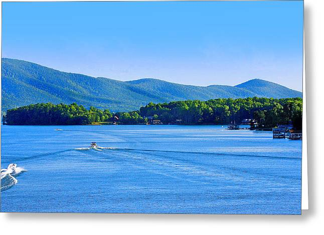Boaters On Smith Mountain Lake Greeting Card