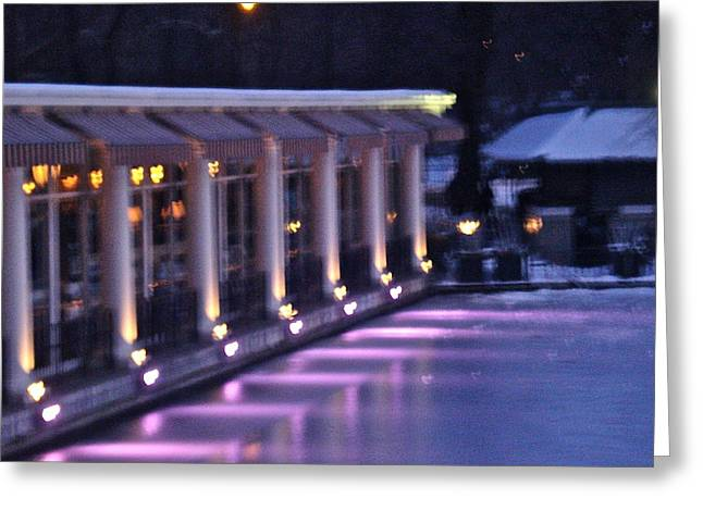 Boathouse - Central Park Nyc Greeting Card