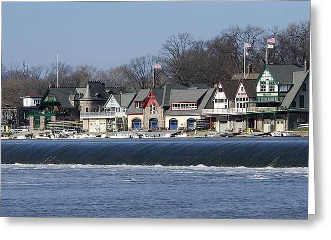 Boathouse Row - Philadelphia Greeting Card by Brendan Reals
