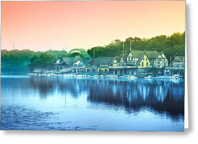 Boathouse Row Greeting Card by Bill Cannon