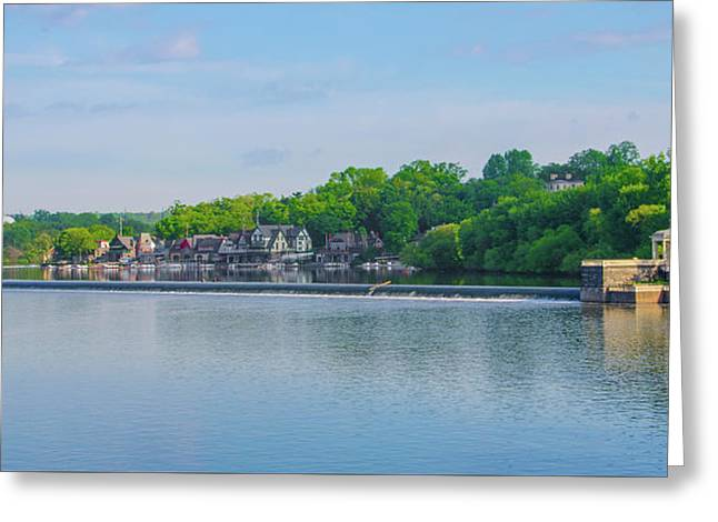 Boathouse Row From Mlk Drive - Philadelphia Greeting Card