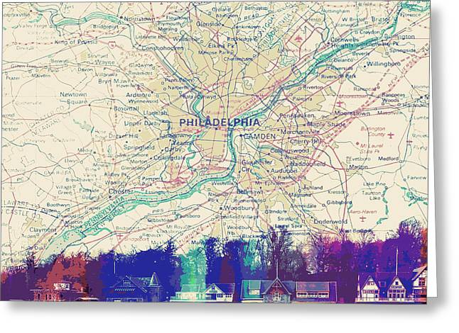 Boathouse Row Philadelphia Greeting Card by Brandi Fitzgerald