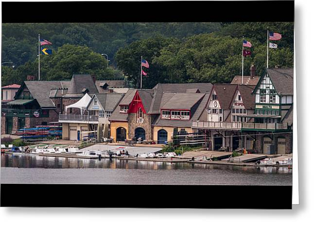 Boathouse Row Philadelphia Pa  Greeting Card