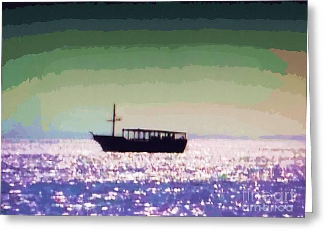 Boating Home Greeting Card by Deborah MacQuarrie-Haig