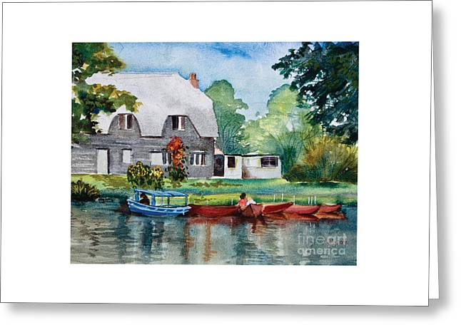 Boating In Essex Uk Greeting Card by Dianne Green