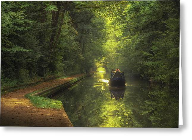 Boating In Solihull Greeting Card