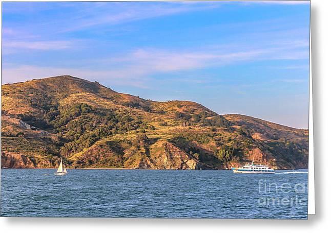 Boating Near Sausalito Greeting Card