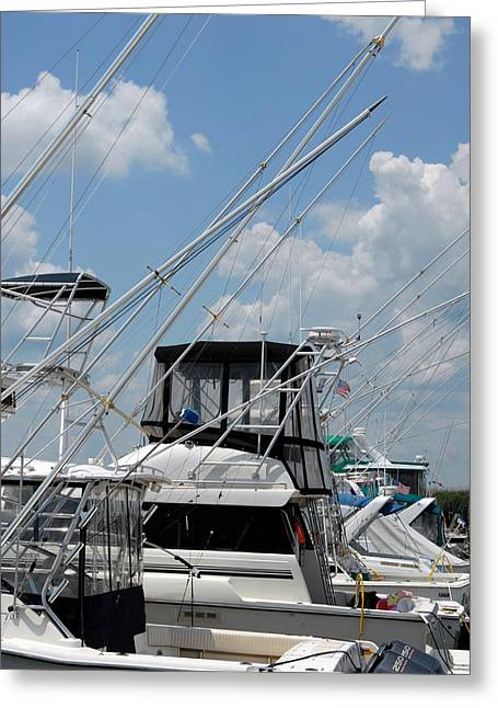 Boats At Dock Greeting Cards - Boats 37 Greeting Card by Joyce StJames
