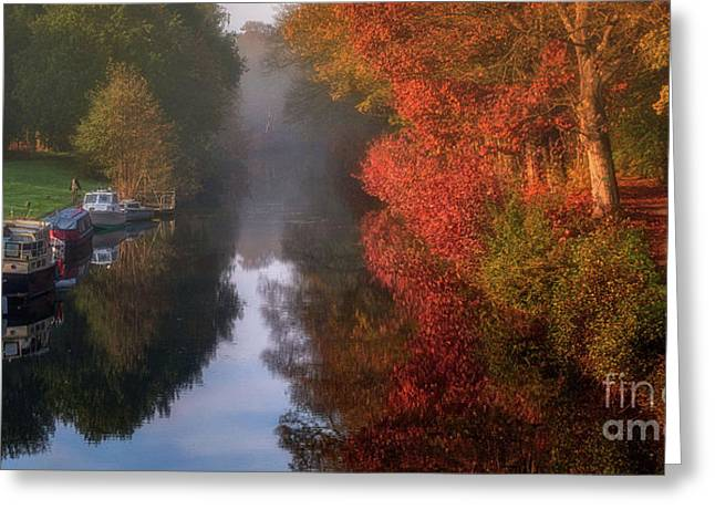 Boats And Channel Greeting Card