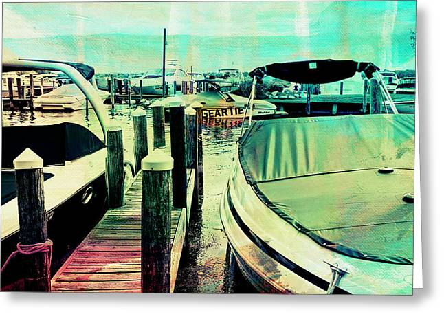 Greeting Card featuring the photograph Boats And Dock by Susan Stone